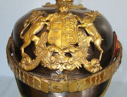 Model 1895 Wurttemberg Officer Original, WW1 Era, Model 1895 Wurttemberg Officer's Pickelhaube Helmet With Impe