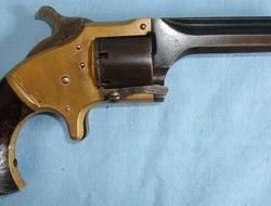 Connecticut Arms. Brass Framed Front Loading .28 Cup-Primer Cartridge Single Action Revolver With  .28
