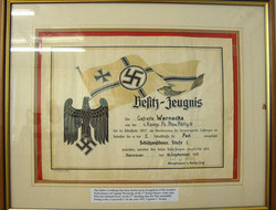 WW2, 1937 Dated, German Shooting Certificate An Original Large Framed WW2, 1937 Dated, German Shooting Certificate with Engli