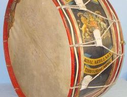 Large Kings Crown Hand Painted Military Band Bass Drum To The 288 2nd West Lanca Large Kings Crown Hand Painted Military Band Bass Drum To The 288 2nd West Lanca