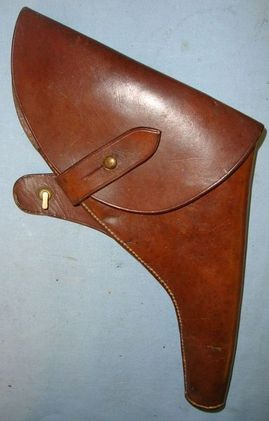 T.Langley,Walsall British 1915 Dated Sam Browne Holster For Webley & Enfield MK VI .455