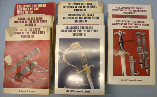 'Collecting The Edged Weapons Of The Third Reich. (Volumes 1-8) Thomas M. Johnson Accessories