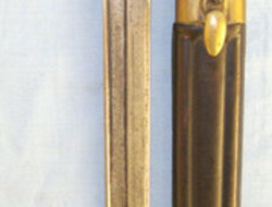 Mannlicher Carcano Rifle Sword Bayonet & Leather Scabbard  Bayonets