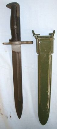 Taiwan Variant Of The WW2 US M1 Garand Rifle Bayonet Marked 'KS 60-6' & Scabbard  Blades