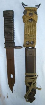 German Eickhorn Commercial M16 knife Bayonet With Wire Cutter & Scabbard.  Blades