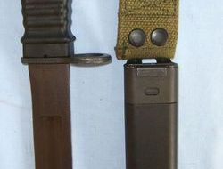 German Eickhorn Commercial M16 knife Bayonet With Wire Cutter & Scabbard.  Bayonets