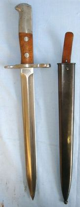 Swiss Model 1918 Schmidt Rubin Bayonet For M1911/M1931 Rifles & M41-M44 Sub Mach  Blades