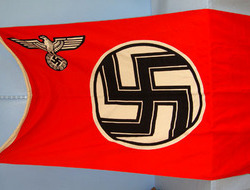 Kress St Tonis MINT, ORIGINAL, WW2, Nazi Kriegsmarine 'E' Boat Flag With Kriegsmarine & Size Ma