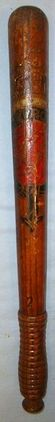 Victorian Police Truncheon, Hand Decorated To Forfar Burgh Police, Scotland impr Victorian Police Truncheon, Hand Decorated To Forfar Burgh Police, Scotland impr Accessories