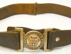 Stockport Borough Police Constable's & Sergeant's Leather Belt With Constabulary Victorian English Stockport Borough Police Constable's & Sergeant's Leather Belt