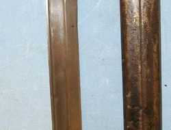 Imperial German M88/98 All Steel Construction Ersatz Bayonet & Steel Scabbard.  Bayonets
