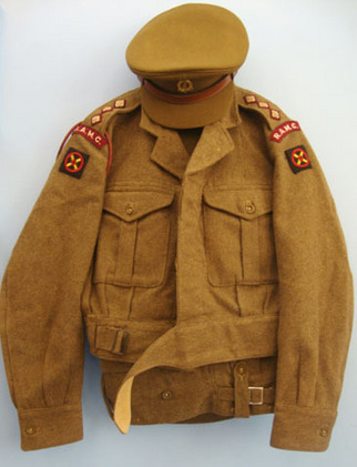 British Royal Army Medical Corps Battledress Blouson Jacket, Trousers & Service  British Royal Army Medical Corps Battledress Blouson Jacket, Trousers & Service  Accessories