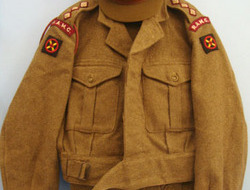 British Royal Army Medical Corps Battledress Blouson Jacket, Trousers & Service  British Royal Army Medical Corps Battledress Blouson Jacket, Trousers & Service