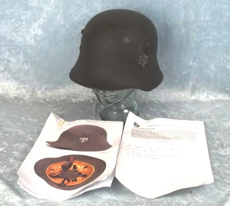 WW1 Austrian Stahlhelm Helmet Reused in by Nazi Germany in WW2  Accessories