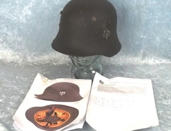 WW1 Austrian Stahlhelm Helmet Reused in by Nazi Germany in WW2