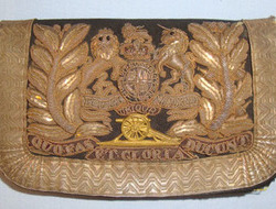 Victorian Royal Artillery Officer's Silver Bullion Shoulder Belt Pouch. Royal Artillery Officer's Silver Bullion Shoulder Belt Pouch.
