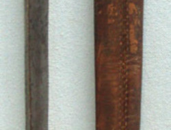 S.Hill,  Socket bayonet For India Catch & Leather Scabbard.  Bayonets