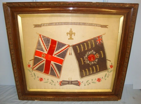 Framed Hand Stitched Silk Boer War & Before Battle Honours Of The Manchester Reg Framed Hand Stitched Silk Boer War & Before Battle Honours Of The Manchester Reg Accessories