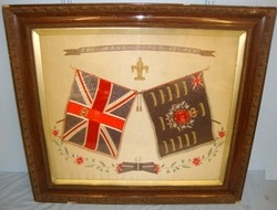 Framed Hand Stitched Silk Boer War & Before Battle Honours Of The Manchester Reg Framed Hand Stitched Silk Boer War & Before Battle Honours Of The Manchester Reg