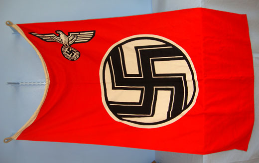 Kress St Tonis MINT, ORIGINAL, WW2, Nazi Kriegsmarine 'E' Boat Flag With Kriegsmarine & Size Ma Accessories
