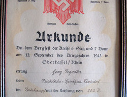 German N.S.R.B.L. National Socialist League of the Reich for Physical Exercise C Original WW2 German N.S.R.B.L. National Socialist League of the Reich for Physic