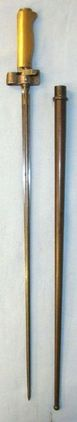 Model 1886/93/16 French Brass Handle Epee Lebel Bayonet Without Hook Quillon & S  Blades