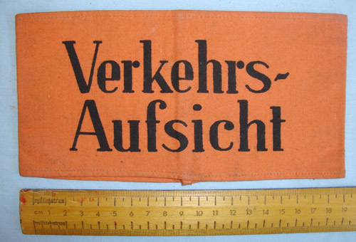Nazi German Police/ Para Military Verkehrsaufsicht (Traffic Control) Armband. Nazi German Police/ Para Military Verkehrsaufsicht (Traffic Control) Armband. Accessories