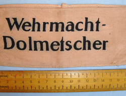 Nazi Wehrmacht-Dolmetscher (Armed Forces Interpreter) Armband. Nazi Wehrmacht-Dolmetscher (Armed Forces Interpreter) Armband.