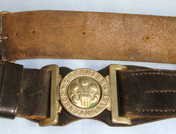 WW1 Period Cheshire Constabulary Uniform Leather Waist Belt, Buckle and Clasp WW1 Period Cheshire Constabulary Uniform Leather Waist Belt, Buckle and Clasp
