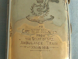 WW1 'Xmas 1918' Hallmarked Silver Presentation Cigarette Case To Capt. W.W. Hals WW1 'Xmas 1918' Hallmarked Silver Presentation Cigarette Case To Capt. W.W. Hals
