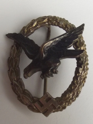 World War 2 Nazi Air Gunners Badge  Accessories