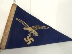 German WWII Luftwaffe Officers' Triangular Car Pennant