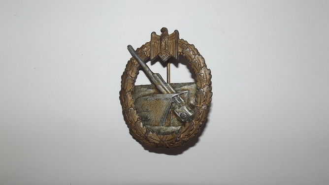 WW2 German Third Reich Kriegsmarine Coastal Artillery Badge  Accessories