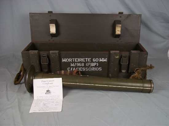 Post WW2 Portuguese FBP M/968 60mm Mortar New S  Other Military Guns
