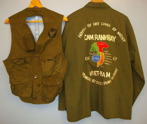 U.S. Army Issue Uniform Shirt With Sgt's Insignia 'Theatre Embroidered 'Cam Ranh U.S. Army Issue Uniform Shirt With Sgt's Insignia 'Theatre Embroidered 'Cam Ranh Accessories