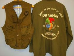 U.S. Army Issue Uniform Shirt With Sgt's Insignia 'Theatre Embroidered 'Cam Ranh U.S. Army Issue Uniform Shirt With Sgt's Insignia 'Theatre Embroidered 'Cam Ranh
