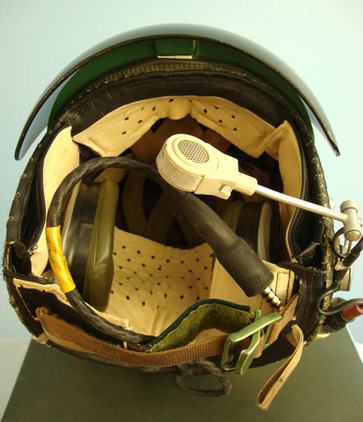 British R.A.F. Flying Helmet 'Bonedome' MK. 3A Complete with Visor, Headset, Mic British R.A.F. Flying Helmet 'Bonedome' MK. 3A Complete with Visor, Headset, Mic Accessories