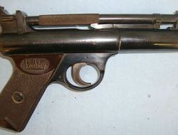 Webley / Webley & Scott Senior .177 Calibre Air Pistol With Brown Grips .177  Air Pistols