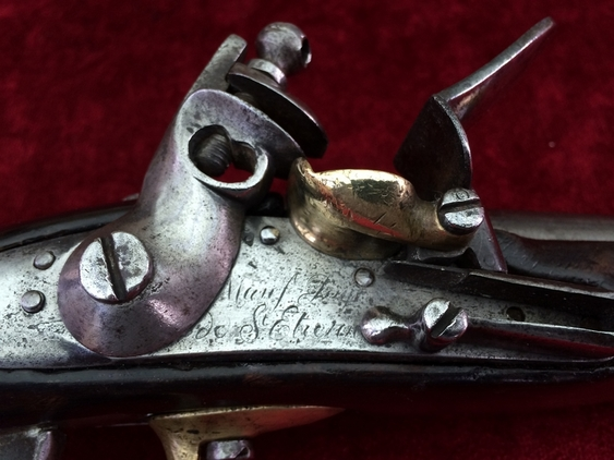 Napoleonic era French Military Flintlock Officer's Pistol. Ref 7959 Pistol / Hand Guns