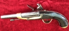 Napoleonic era French Military Flintlock Officer's Pistol. Ref 7959   Muzzleloader for sale