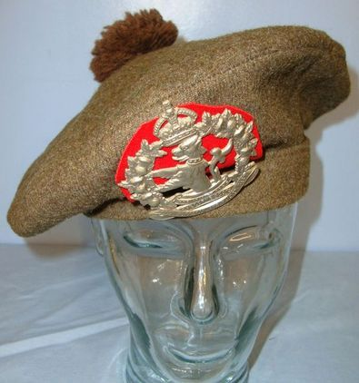 Canadian Scottish, Lorne Scots Regiment Tam O Shanter Bonnet War Dept Marked By  WW2 1942 Canadian Scottish, Lorne Scots Regiment Tam O Shanter Bonnet War Dept M Accessories