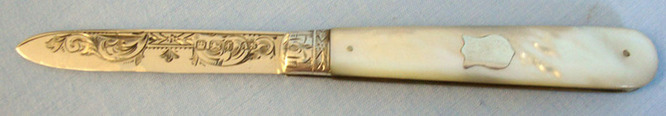 Victorian Silver Bladed Hallmarked 1898-99 Sheffield Pocket Knife With Mother Of  Blades