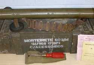 Potuguese Brandt 60mm Airborne 60mm  Mortar