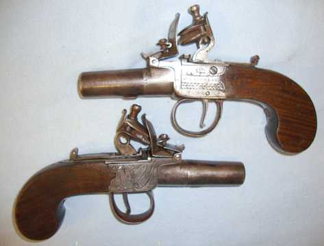 William McLauchlan Edinburgh Flintlock Pocket Pistols Pistol / Hand Guns