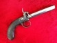 English Antique single barrelled Percussion pistol. Ref 7303. .45  Muzzleloader for sale