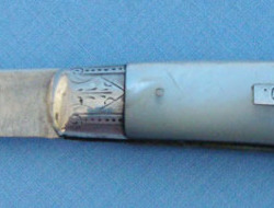 Victorian 1879-80 Hallmarked Silver Bladed Pocket Knife With Mother Of Pearl Sla  Knives