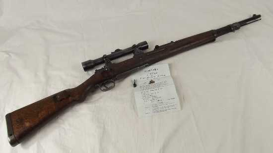 WW2 Era 1937 Made K98 Mauser Rifle with Custom Turret Scope Assembly by Jena  Rifles