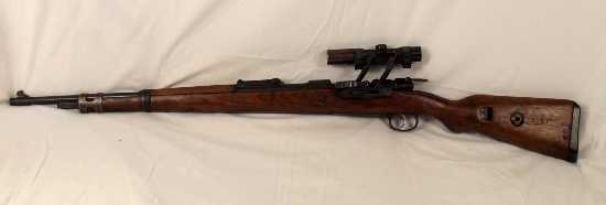 WW2 New Spec 1941 Made K98 Mauser with ZF-4 Sniper Scope on Z Rail Mount  Rifles