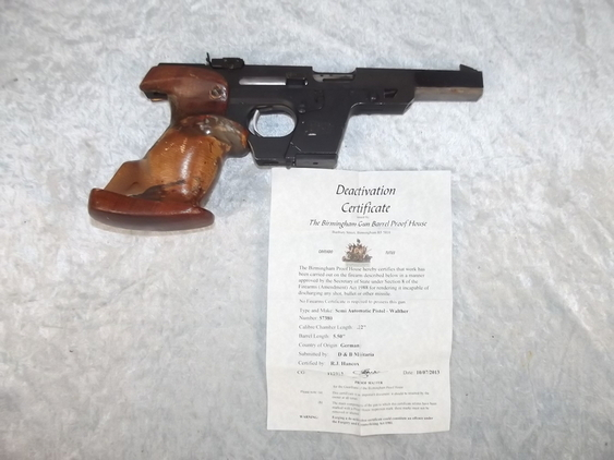 A New Specifications Deactivated Walther GSP Pi  Pistol / Hand Guns