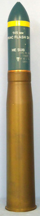 British L7 (105x617R) Tank Gun Practice Flash Round INERT Mint Unfired British L7 (105x617R) Tank Gun Practice Flash Round Accessories